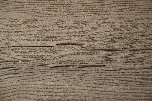 Detailbild Tischplatten Oberfläche aus alter Eiche