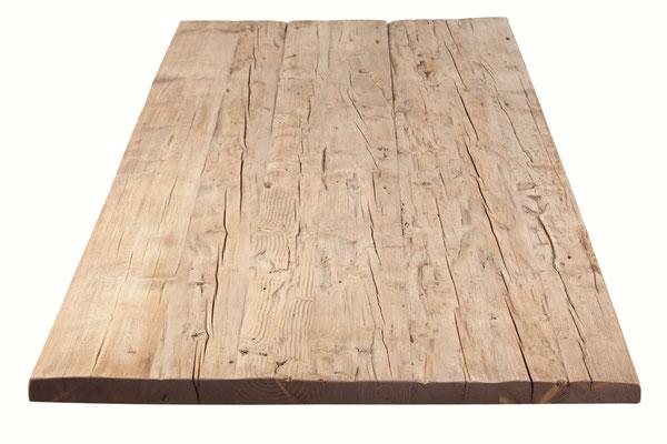 Detailbild Tischplatte rustikal Altholz Eiche