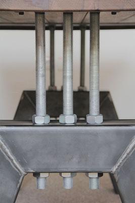 Deteilbild Tischgestell Industrial in A-Form