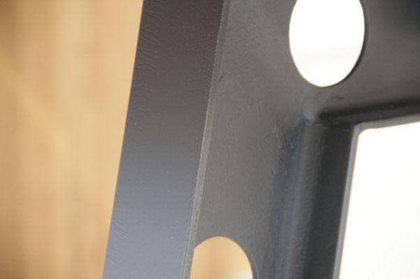 Detailbild Industriedesign Tischgestell Stahl