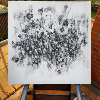 little flower /Acryl on Canvas/80cm x 80 cm 580- Euro