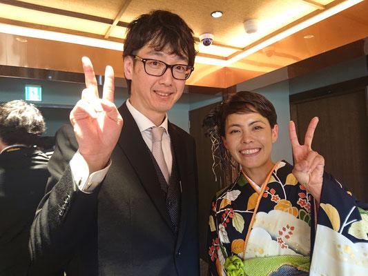 実は新郎さんはトライアスロンのオリンピック選手上田藍選手のお兄さんなんです?!