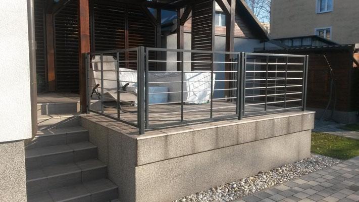 Treppengel/änder f/ür Innen und Au/ßen aus V2A Edelstahl zur einfachen Befestigung an der Wand Melko gerader Handlauf /Ø 4,2 x 90 cm lang