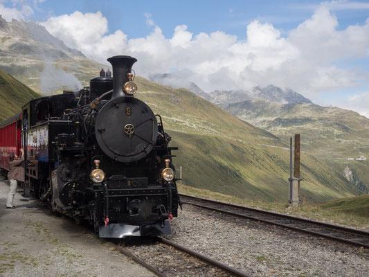 Station Furka der Furka-Dampfbahn