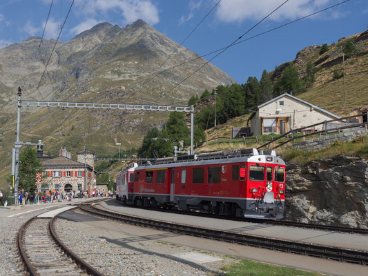 Mit dem Bernina-Express in Alp Grüm