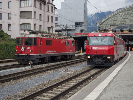 Lokwechsel in Chur