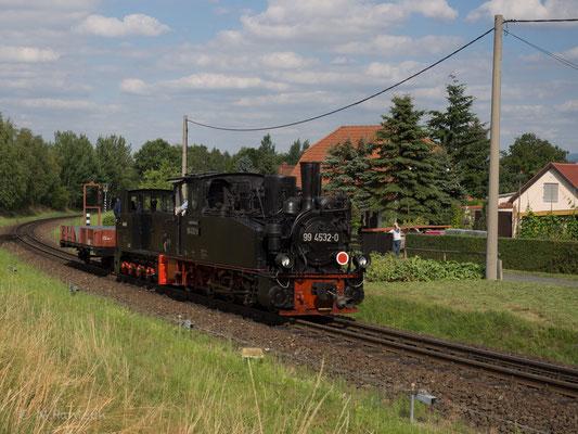 Der Hechel und die Kö fahren zur Aufstellung in Richtung Olbersdorf