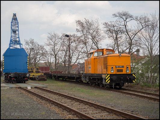 V60 der OSEF an der Rollwagengrube