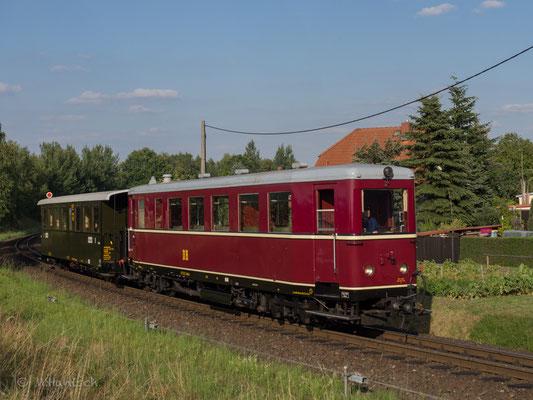Der VT 137 wurde extra in sein Auslieferungsfarbschema zurück versetzt