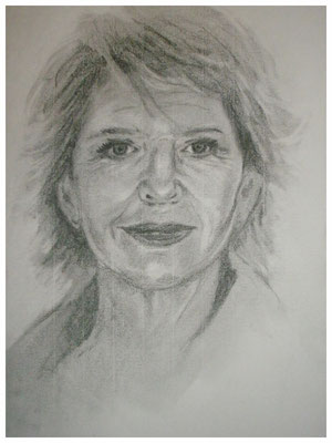 "ART HFrei - ""Christiane Hörbiger"" - Bleistift - 2008"