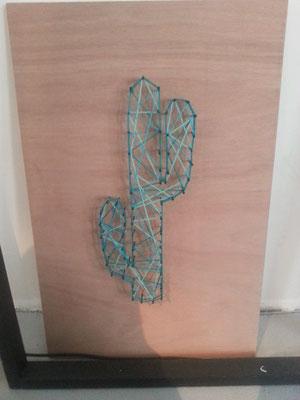 String-art Cactus
