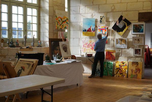 Sculptures, pastel, peintures