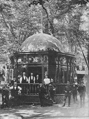 1894 - Musikpavillon auf dem Marktplatz