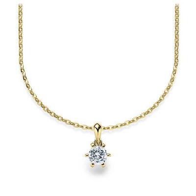 Brautschmuck Kette Diamant Gold