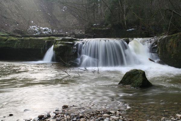 Wasserfall an der Leiblach Hergensweiler