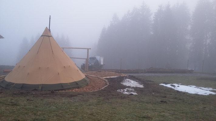 Der Nebel kommt und geht....