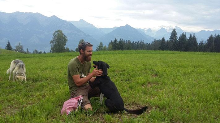 Onyx und Taiga mit Elias