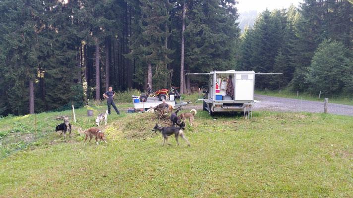 Lager für eine Nacht in Obwalden.