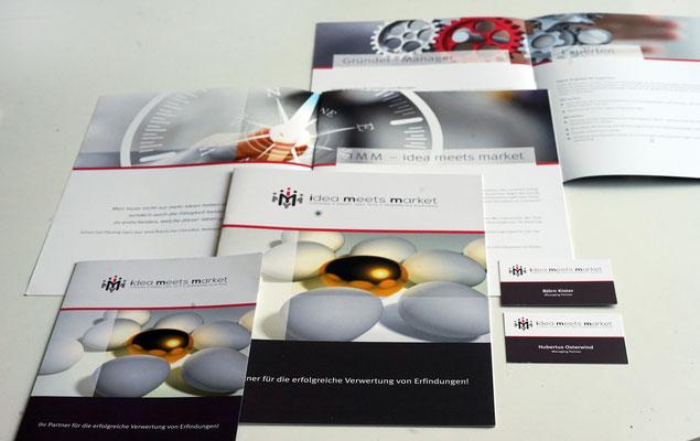 2 Imagebroschüren für ein Dienstleistungsunternehmen