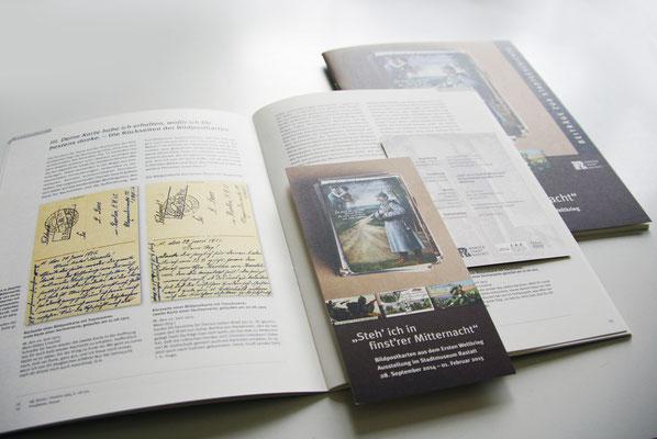 Ausstellungsbegleitende Publikation und Veranstaltungsflyer