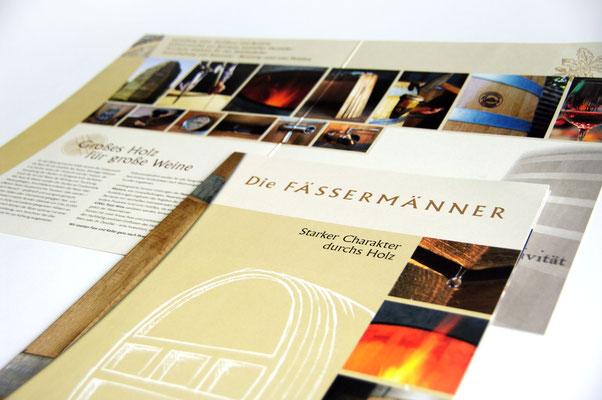Imagebroschüre für eine Fassmanufaktur