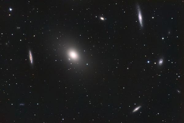 Messier M86 - 14x900s LUM 1x1, Red 8x421s 2x2, Green 8x450s 2x2,  Blue 8x619s 2x2 - mit Darks und Flats - 27.02.2019