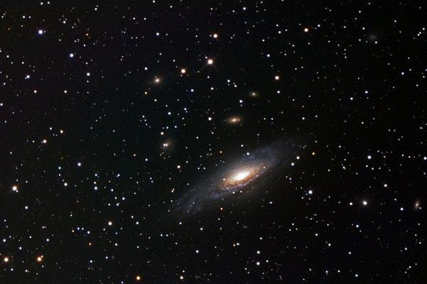 NGC7331 - LUM 9x600s, -25Grad, ohne binning, full, mit Darks und Flats - 10/2017; RGB 6x300s, -25Grad, 2x2, full, mit Darks und Flats 12/2016 und 10/2017