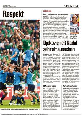Kleine Zeitung, 12.10.2015 S. 43
