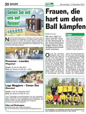 """Öt. BauernZeitung"""" Nr. 51 / 2015 vom 17.12.2015"""