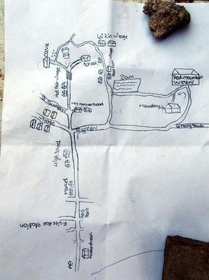 Wanderkarte - Liebevoll von einer Pa-O gezeichnet