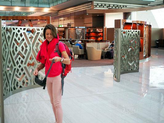 Luxus - Vor der Emirates Lounge