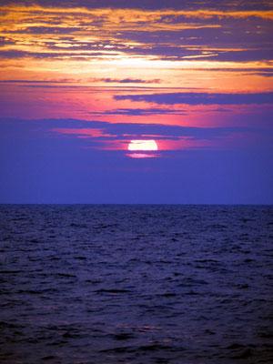 ... weder beim Sonnenuntergang ...