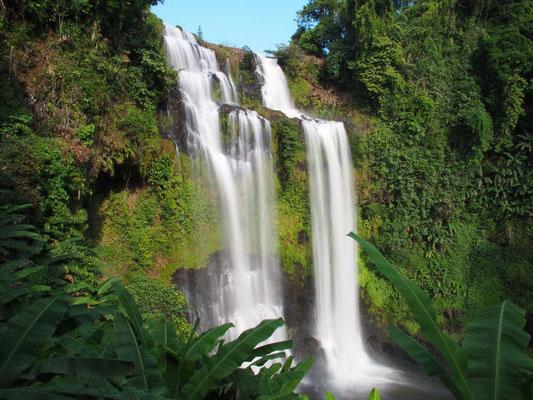 Immer wieder Views auf Wasserfälle, hier auf den Tad Yeuang (Yuang)