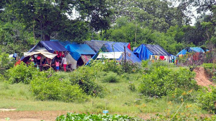 Slum in der Nähe von Choeung Ek südlich von Phnom Penh