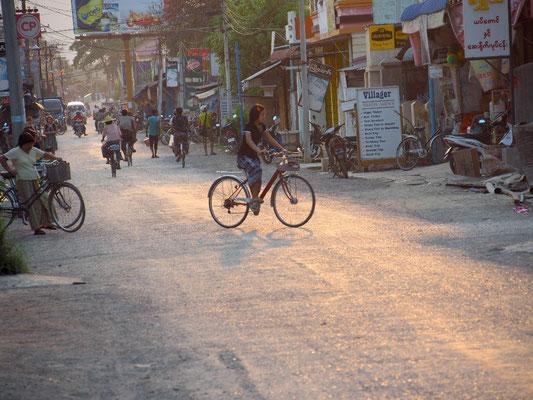 Beschaulich - Nyaung Shwe ist Fahrrad freundlich