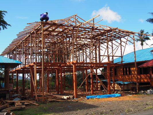 Häuser in Hlzständerbauweise werden aus Woloan exportiert