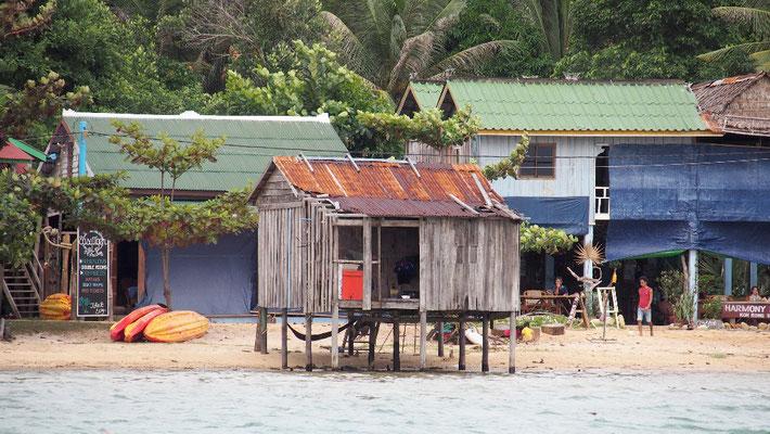Rückfahrt - Fischerhütte in M'Pay Bay