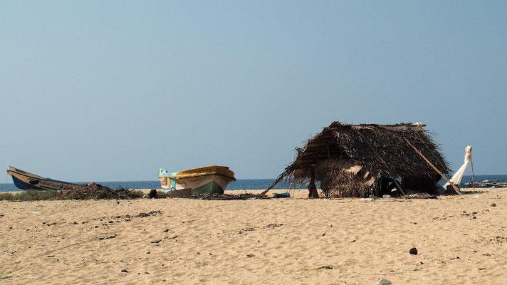 Am einsamen Strand von Batticaloa...
