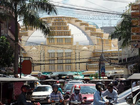 Psar Thmei - Zentraler Markt und ein Wahrzeichen Phnom Penhs, ...