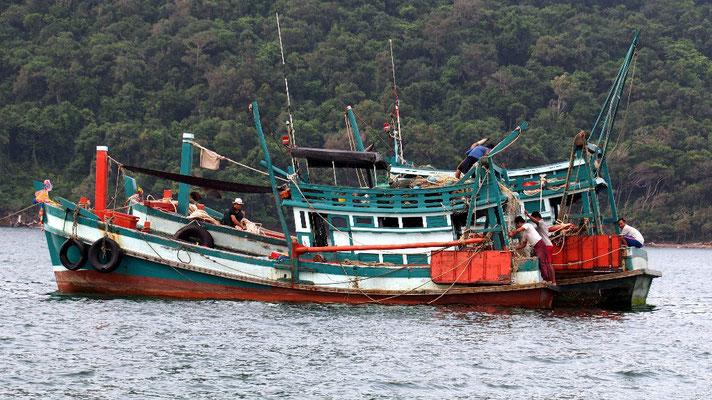 Fischeichtum - Viele Fischerboote plündern die Fischbestände