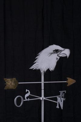 """Girouette aigle, Aluminium acrylique, 31"""" haut x 24"""" x 24"""", 2006"""