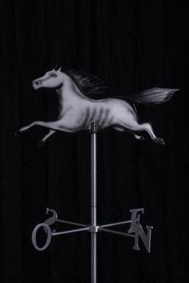 """Girouette Cheval, Aluminium acrylique, 32"""" haut x 24"""" x 24"""", 2015"""