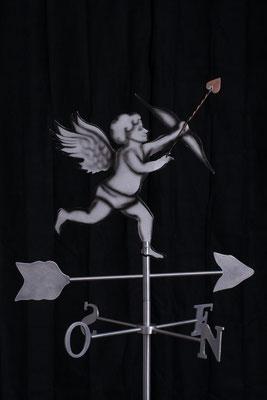 """Girouette Cupidon, Aluminium acrylique  ,36"""" haut x 24"""" x 24"""", 2015"""