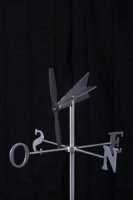 "Girouette Fly winl, Aluminium , 30"" haut x 24"" x 24"", 2015"