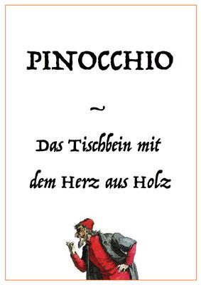 PINOCCHIO   Das Tischbein mit dem Herz aus Holz