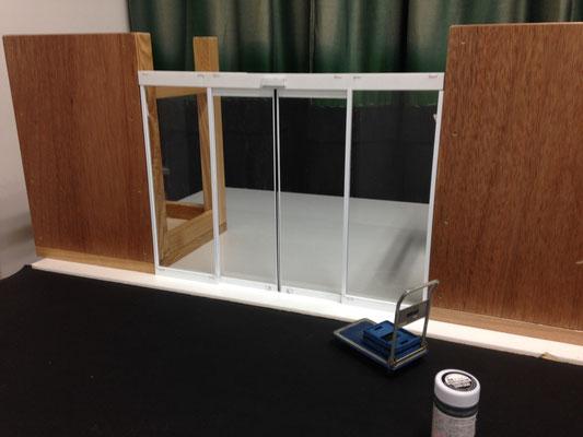 本屋の自動ドア設置