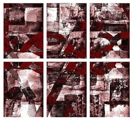 """""""nodi di buio"""" / AD009-13 / formati: originale [o] cm 60 x 60 - riproduzione ridotta [r] cm 38 x 36"""