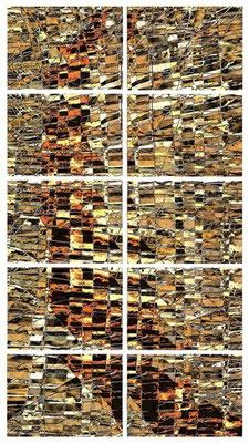 """""""segno di terra"""" / AD009-11 / formati: originale [o] cm 60 x 100 - riproduzione ridotta [r] cm 36 x 62"""