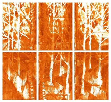 """""""autunno sintetico"""" / AD009-04 / formati: originale [o] cm 60 x 60 - riproduzione ridotta [r] cm 38 x 36"""