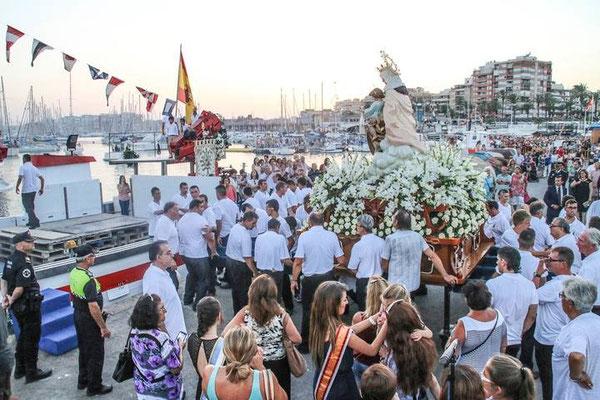 Procesión de la Virgen del Carmen en Torrevieja